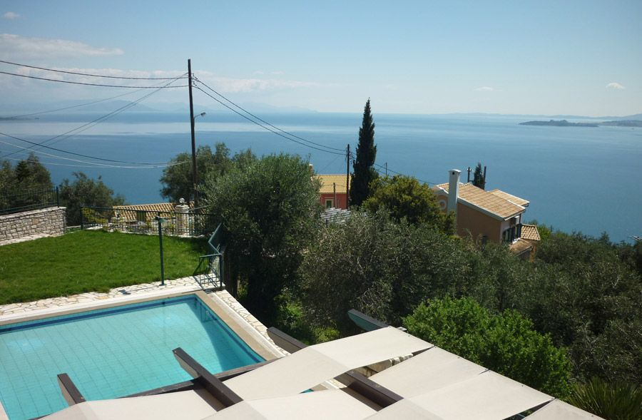 House With Pool And Sea View For Sale Above Nisaki Corfu