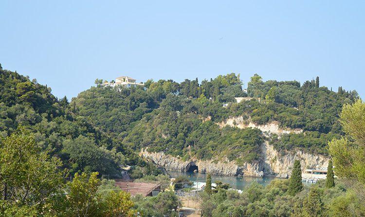 View to Monastery of Paleiokastritsa