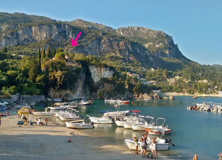 Property for sale in Paleiokastritsa with sea view on the beach Corfu