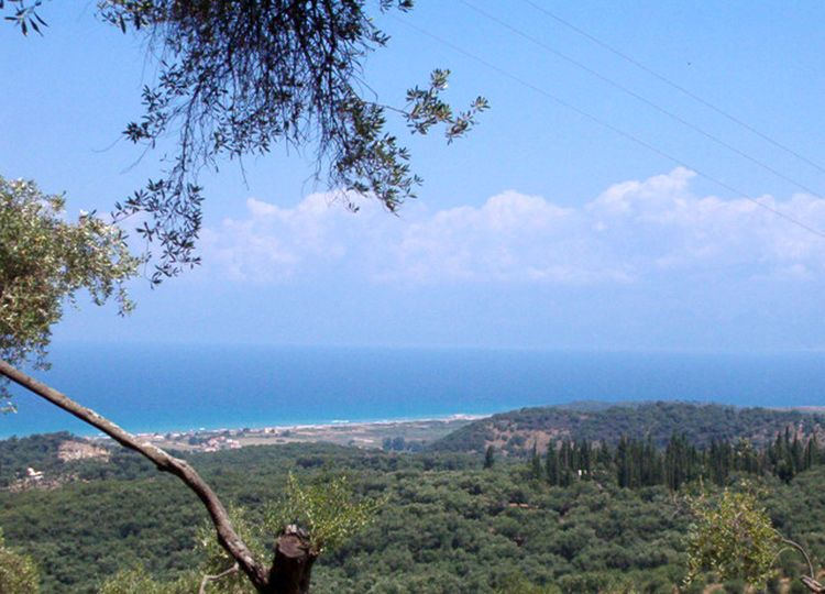 Land for sale at Stroggili, North Corfu