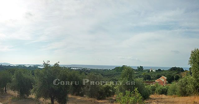 For Sale land with lake and sea view, Halikouna, Corfu