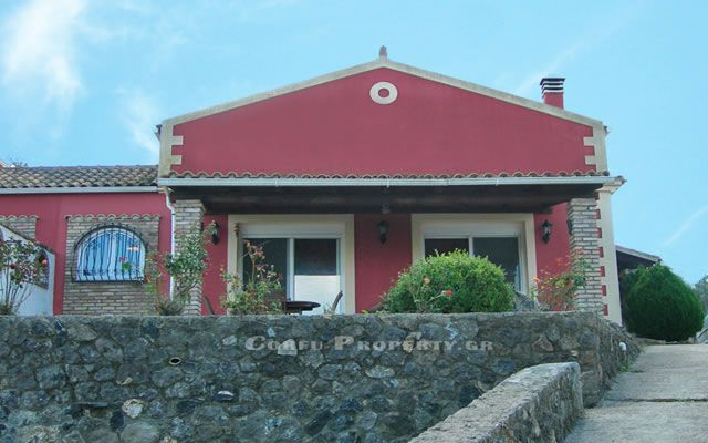 For Sale house overlooking the golf course valley, in Vatos, North East Corfu.