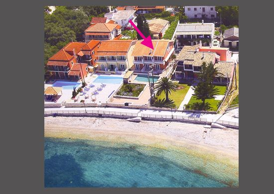 For Sale apartment complex on the beach of Kassiopi, North Corfu