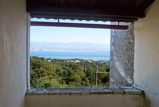For Sale house with sea view above Agios Stefanos, Corfu