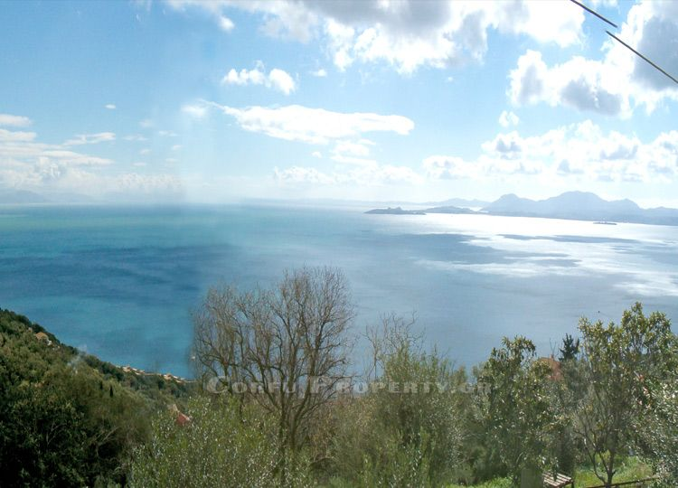 Land with seaview for sale above Nisaki, Corfu