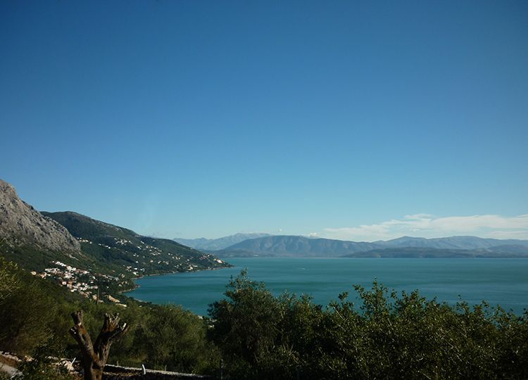 For Sale Buildable land with sea view at Barbati, North East Corfu