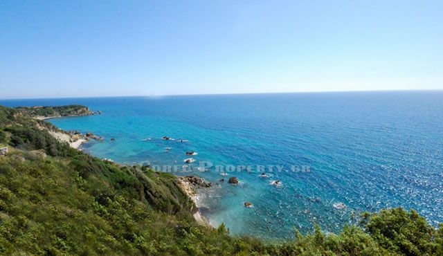 Land with sea frontage, South West Corfu