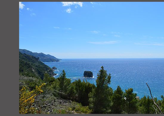 For Sale buildable land above Gialiskari Beach, West Corfu